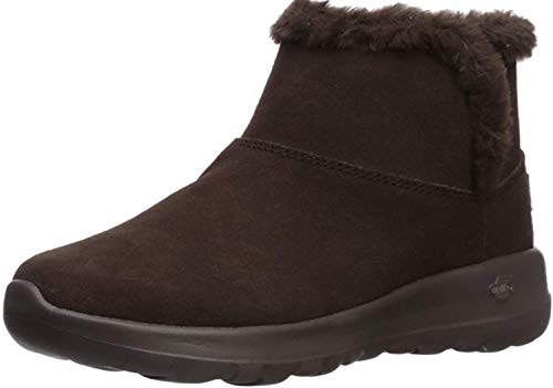 Skechers On-The-go Joy-Bundle Up, Botines para Mujer, Marrón (Chocolate Suede Chocolate), 38 EU