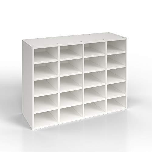 Vicco Schuhregal LYSANDER - für bis zu 20 Paar Schuhe Schuhschrank Schrank Schuhständer Schuhe Schuhablage Standregal Weiß XL (Weiß)