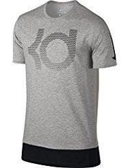 Nike KD M NK Dry Tee Aunt Pearl T-shirt Linie Kevin Durant für Herren, Grau (Dk Grey Heather / Cool Grey / Wolf Grey), L (Pearl Heather)