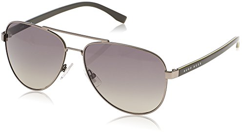 BOSS Hugo Herren 0761/S DX QJI Sonnenbrille, Grau (Mtruth Khaki/Dk Grey Sf), 60