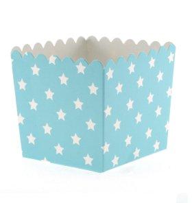 Snack-Schachteln mit Weißen Sternchen (Zirkus-themen-tisch-dekorationen)