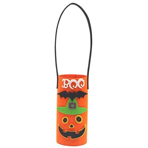 BZLine® Flaschentasche, Halloween Dekoration Figur Süßigkeit Dessert Ablagekorb Halter Home Decor (Orange)
