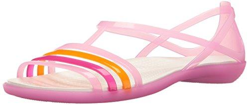 crocs Damen Isabella Sandalen Flipflops, Rosa (Carnation/Weiß), 41/42 - Pink Crocs Frauen