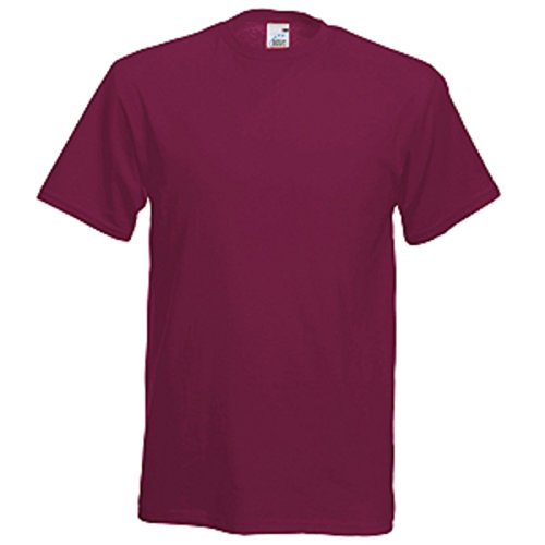 Fruit of the Loom Herren T-Shirt Rot - Burgunderrot