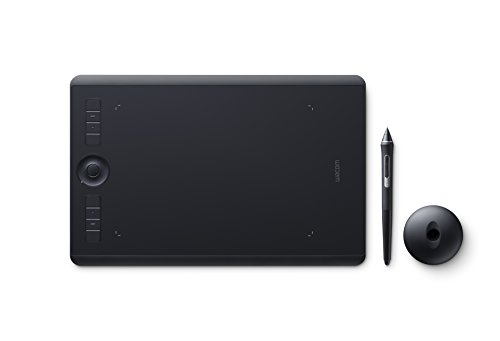 Foto Wacom Intuos Pro Medium PTH-660 Tavoletta Grafica con penna sensibile alla pressione,  Tasti di comando personalizzabili, Kit wireless incluso, Compatibile con Windows e Mac, Nero