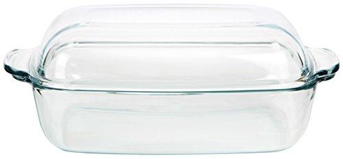 feuerfestes glas zum kochen SIMAX Hitzebeständiges feuerfestes Gefäß Küchengeshirr Auflaufform mit Deckel EXCELLENT drei Größen zur Auswahl NEU&OVP (5,3 L)