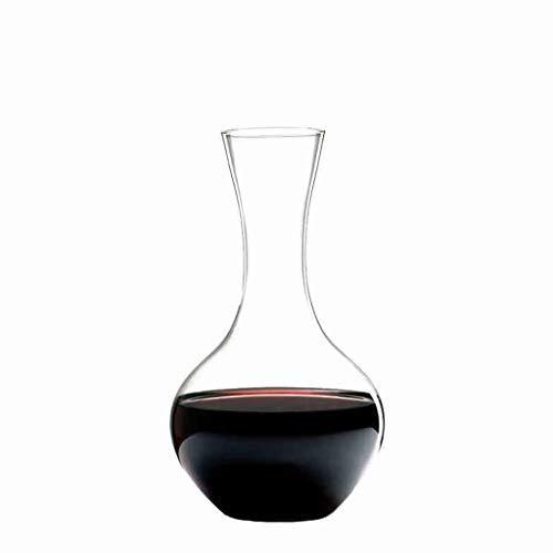 XJQI Dekanter - 100% mundgeblasenes bleifreies Kristallglas Rotweinkaraffe Weingeschenke Weinzubehör Weindekanter 1.04L
