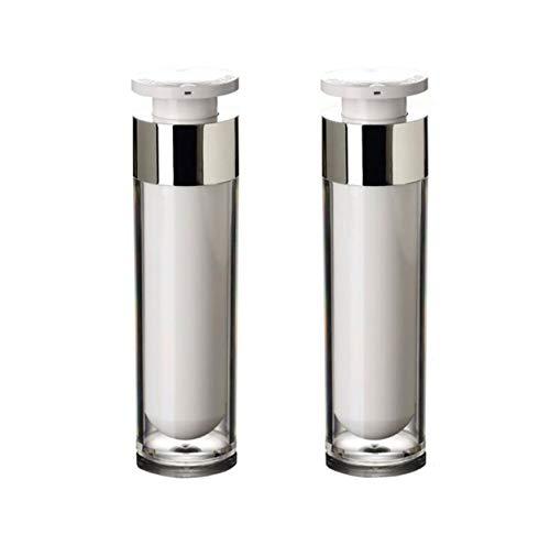 3g Glas (2 STÜCKE Acryl Airless Vakuumpumpe Creme Lotion Fläschchen Flasche Gläser Bajonett Augencreme Toner Kosmetik Körperpflege Make-up Foundation Dispenser (50ml/1.7oz))