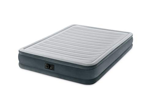 INTEX Queen M R 2p Matelas pneumatique Mixte Adulte, Gris