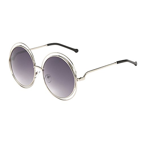 (kolila Damen Herren Retro Brillen Sonnenbrillen Verkauf Ausverkauf Unisex Vintage Runde Rahmen Flache Spiegel Sonnenbrillen bieten UV400 Auge Strahlenschutz)