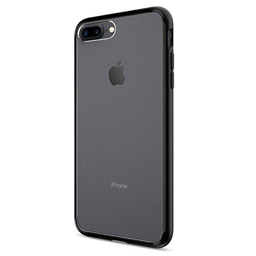 Spigen cover iphone 7 plus, cover iphone 8 plus, custodia [ultra hybrid] cuscino d'aria tecnologia e protezione di goccia ibrido per iphone 7 plus 2016 - black