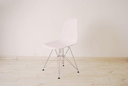 hnnhome–Stuhl Esszimmer Kunststoff Waschtisch Wohnzimmer Büro modernen Inspiration Eiffel weiß