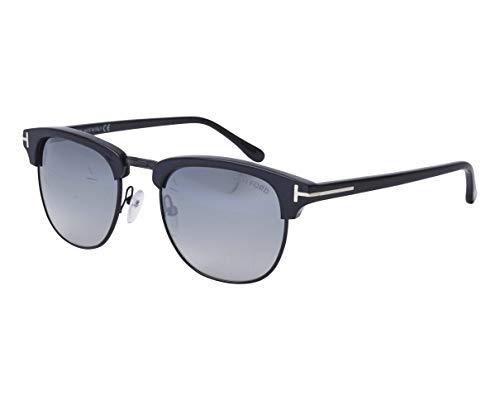 Tom Ford Sonnenbrillen Henry (TF-0248 01C) schwarz glänzend - blau-grau verlaufend - verspiegelt