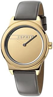 Esprit Womens Quartz Watch, Analog-Digital Display and Leather Strap, ES1L019L0035