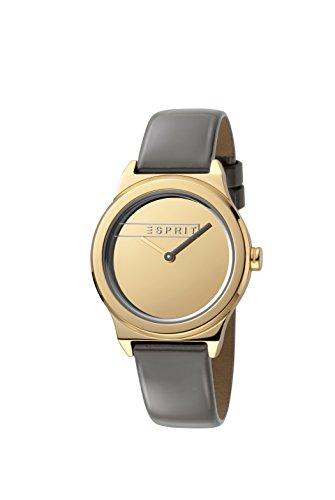 Esprit Femmes Analogique Quartz Montre avec Bracelet en Cuir ES1L019L0035