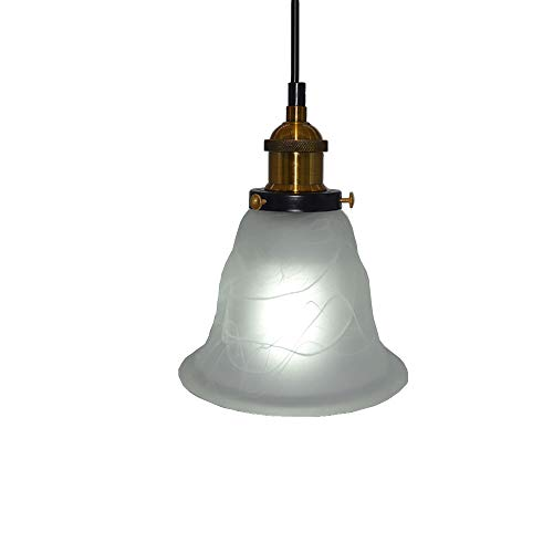 Alabaster Barrel Glass Colgante de luz Creativo Industrial Edison Estilo vintage Iluminación del hogar...