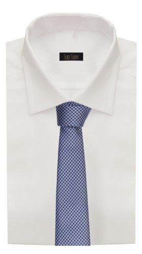 Fabio Farini klassische blau-schwarz karierte 8 cm Krawatte, Anzug, Buisness, Hochzeit