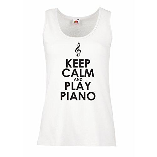 Top Klavier - Musiker zitiert (Small Weiß Schwarz) (Besten Moderne Halloween-songs)