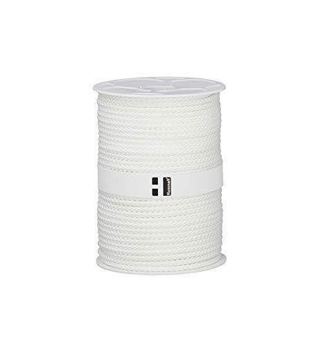 Hummelt® SilverLine-Rope Universalseil Polyesterseil 6mm 100m weiß auf Rolle
