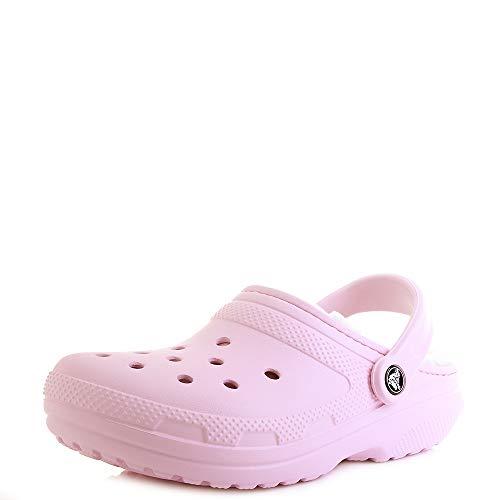 2331d03524 Crocs Classic Fuzz Lined Clog Ballerina Pink Oatmeal Croslite Textil