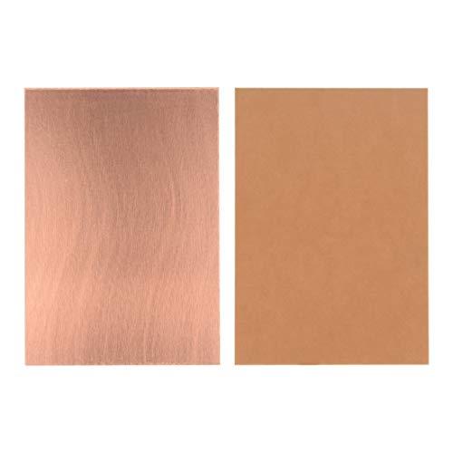 Sourcingmap 7x 10cm einseitig Copper Clad Laminat PCB-Leiterplatte braun 25Stück