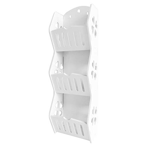 JIANGSN Creative Shelving Storage Unit, Home Wandregale Kosmetikregal Badezimmerregal Wandregal, Weiß,Size1 - Regal Storage Unit