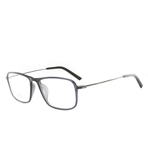 Chengduaijoer Quadratische übergroße Brillengestell Unisex Brillengestell für Frauen, Männer, ohne Brillen (Color : Gray)