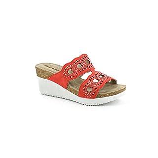 INBLU EN-06 Women's red Wedge Sandal