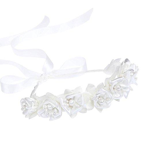 Kristall Strass Perlen Kranz Stirnbänder Blumenmädchen Haarschmuck Hochzeit (Für Kleid Hochzeiten Bei Blumenmädchen)