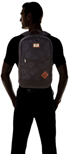 Vans Van Doren Iii Backpack Zaino Casual, 52 Cm, 29 Liters, Grigio (Heather Suiting) Nero (Tonal Palm)