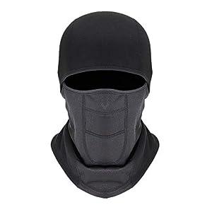 Fablcrew Motorrad Winddichte Skimaske Skihaube Gesichtshaube Kopfhaube Kaltes Wetter Half Face Maske Neck Warmer für Ski Snowboard Fahrrad Klettern Wandern