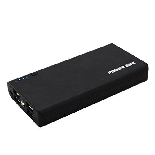 A 4 USB-Energien-Bank-Kasten 6x18650 Batterieladegerät DIY Kasten-Kasten-Installationssatz für Telefon (Schwarz) ()