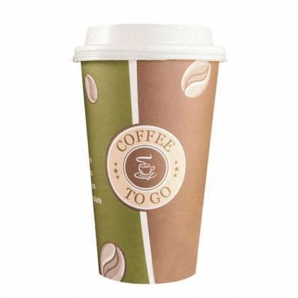 50 Stk. Kaffeebecher Premium Coffee to go mit Deckel, Pappe beschichtet 400 ml