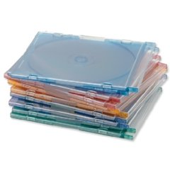New , Compucessory CD Case Slimline Jewel for 1 Disk W125xD5xH124mm Assorted Ref CCS95509 [Pack 100]