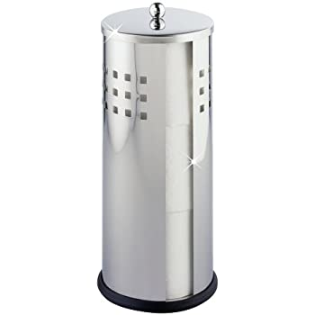 axentia wc ersatz rollenhalter bustino aus edelstahl box f r 3 toilettenpapier rollen. Black Bedroom Furniture Sets. Home Design Ideas