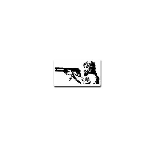 Aufkleber / Sticker - Jesus Christus Nazareth Neue Testament Pumpgun Waffe Kreuz Dornenkrone Humor Spaß Fun Emblem - 12x7cm #A3961 (Waffe-aufkleber)