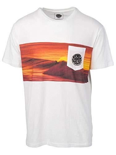 RIP CURL 2019 Mens Action Original Surfer T-Shirt White CTEDA5 Mens Size - M