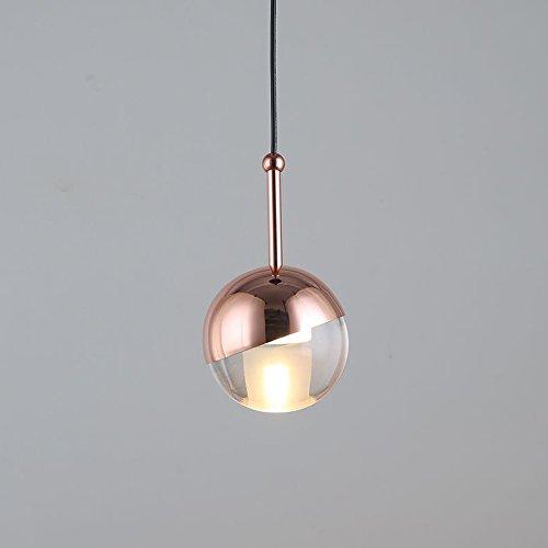Modern Design Pendelleuchte Hängelampe Rose Gold Einstellbar Drehbar Lampenschirm Nordisch Elegant Kreativ Anhänger Leuchter Lampe für Wohnzimmer Küche Tabelle Schlafzimmer Treppe Kunst Hängeleuchte (1 Flammig) (Gold Tabelle)