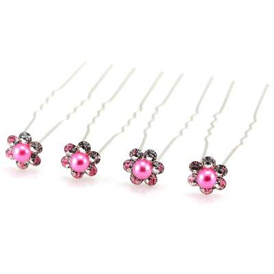 I Love DIY Lot de 10 épingles à cheveux avec perles en cristal couleur Accessoires pour Chignon de mariée mariage