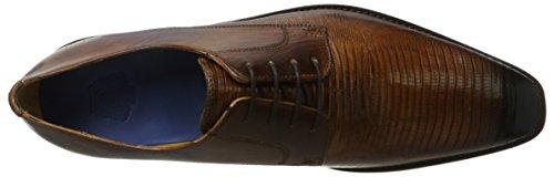 Melvin & HamiltonMartin 1 - Scarpe stringate Uomo Braun (Venice Guana / Venice Wood / Wood / Toe E-Blue, Hrs)