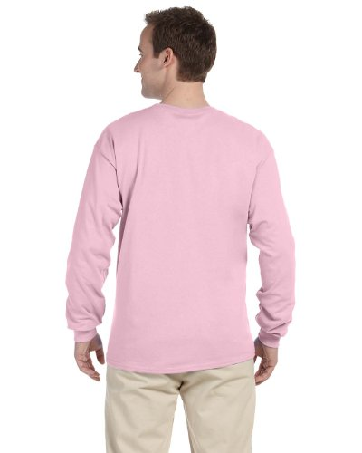 Fruit Of The Loom - T-shirt a manica lunga, in cotone robusto, 4930R Classico rosa