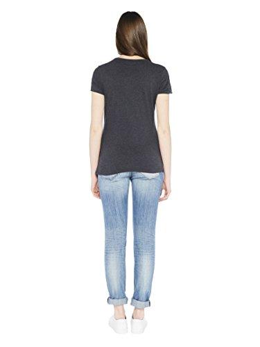 Colorado Denim Margeret, T-Shirt Donna Schwarz (anthra mel 9121)