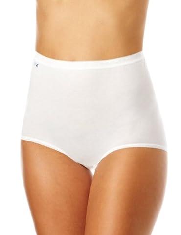 Sloggi Basic - 10005037 - Culotte - Lot de 4 - Femme - Blanc - FR : 44 (Taille fabricant : 44)