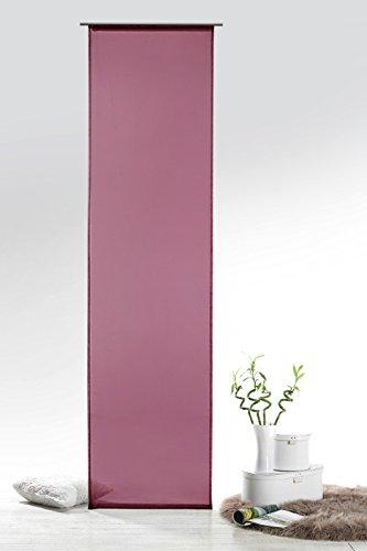 fashionjoy-schiebegardine-voile-beere-hxb-245x60-cm-mit-zubehor-transparent-einfarbig-flachenvorhang