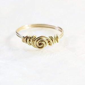 Edler Gold-Ring mit Spirale/alle Größen/Design und Handarbeit von Silber&Stein