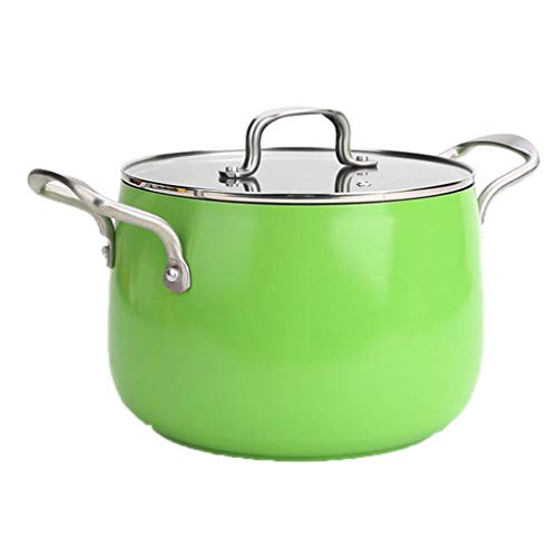 Cocotte Haute température Pot de Soupe en Alliage d'aluminium 22cm épaisse Grande capacité santé Porridge ragoût Wok feu Maison cuisinière à gaz Universel 3 Couleur 22 * 16 * 19 cm MUMUJIN