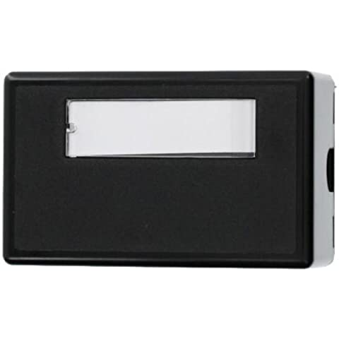 Leviton 41089-1EP QuickPort Surface Mount Housing, 1-Port, Black by