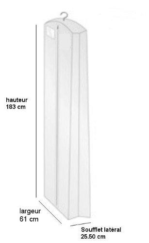 Weiß Kleidersack Kleiderhülle Schutzhülle für Brautkleid Abendkleid Hochzeitskleid 183cm - 2