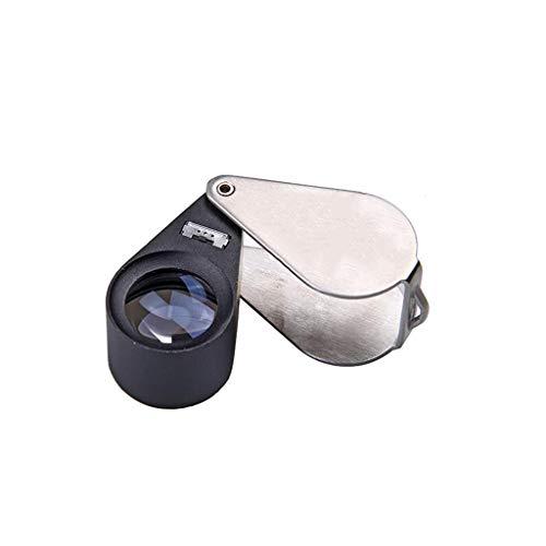 WSGZH Lupe/LED-Licht Handheld Lupe 10X 20X 30X Leselupe für Bücher Zeitung Karte Münzen Schmuck Hobbies und Handwerk tragbar (Color : 10 Times)