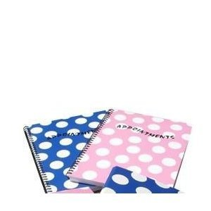 Polka Dot Appointment Book 4 Column - Pink by Polka